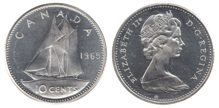 canada coins 10 cents dime