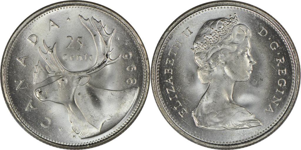 canada coins 25cents, quarter